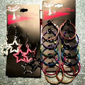 2/$20 brand new 9pairs earrings